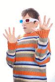 Child in 3d glasses — Stock Photo