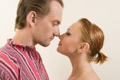 Touching noses — Stock Photo