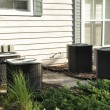Stock Photo: Outdoor central air conditioner units
