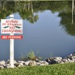 Alligator danger sign — Stock Photo #6839364