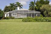 Screened patio in Naples Florida — Stock Photo