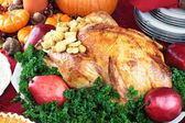 Holiday Turkey Dinner — Stock Photo