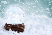 Snow Globe with Clouds — Stock Photo