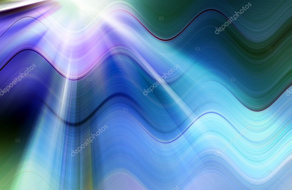 Abstract blue background representing speed and motion  Foto Stock #6837425