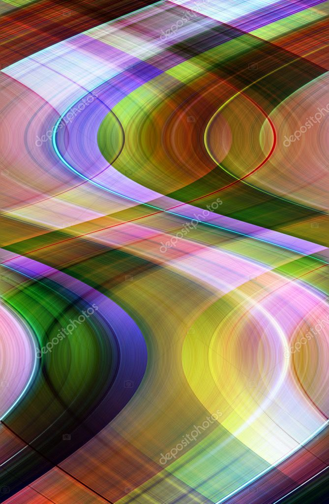 Abstract colorful background representing motion and play of colors — Stock fotografie #6839354