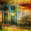 Art grunge background with window — Foto de Stock