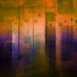 Art grunge background in orange and purple tones - Stock Photo