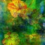 Art grunge floral background — Stock Photo