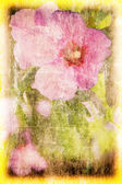 Art grunge floral background — Stock Photo