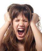 Angry and frustrated teenage girl — Stock Photo