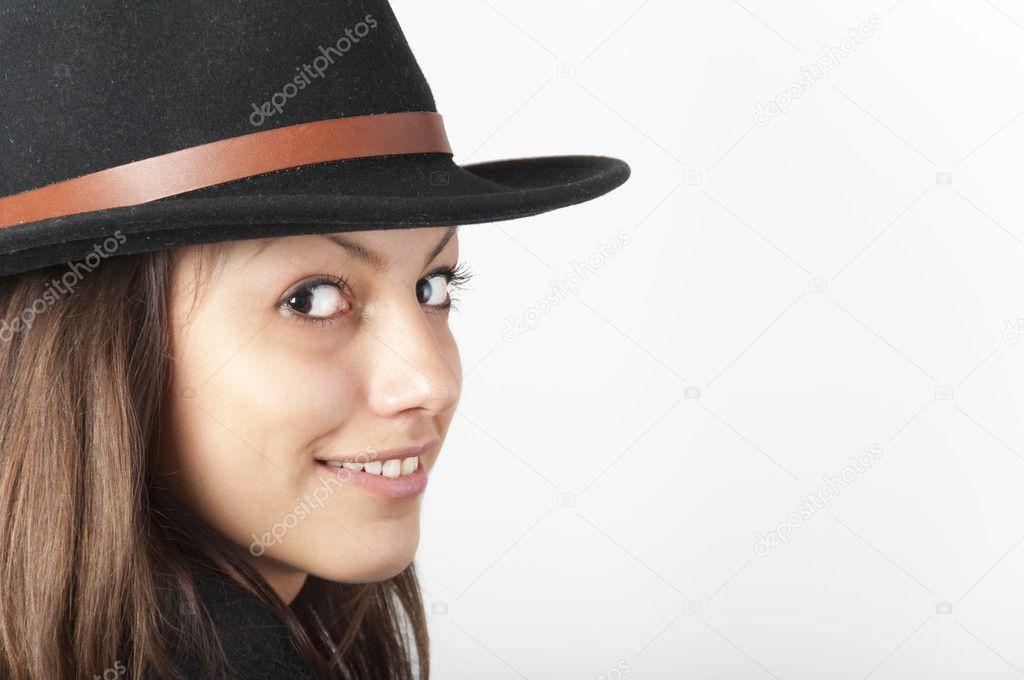 Girls Wearing Cowboy Hats Girl Wearing Black Cowboy