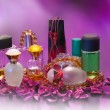 Stock Photo: Collection of ladies perfumes.
