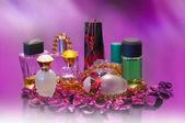 Collection of ladies perfumes. — Foto Stock