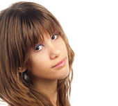 Portrait of the beautiful girl with smile — Stock Photo
