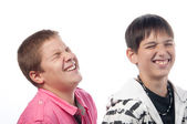 Two friends laughing loudly — Stock Photo