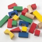 Wooden construction kit for children — Stock Photo