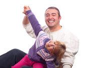Far och dotter ha roligt tillsammans — Stockfoto