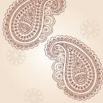 Henna Mehndi Pasiley Doodle Vector — Stock Vector #7898836
