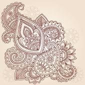 Henna Mehndi Pasiley Doodle Vector — Stock Vector