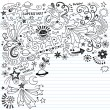 Stock Vector: Inky Scribble Marker Superstar Doodles Vector