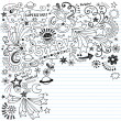 Inky Scribble Marker Superstar Doodles Vector — Stock Vector #7911528