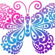 Swirly Butterfly Vector Design Element - Imagen vectorial