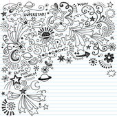 Inky Scribble Marker Superstar Doodles Vector — Stock Vector