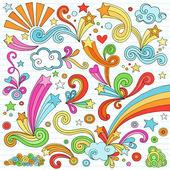 Notebook Doodles Vector Illustration Design Elements — Stock Vector