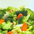 Fresh Vegetables Chopped in Preparation for Cooking — Stock Photo #6769833
