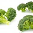 Fresh, Raw, Green Broccoli Pieces, Cut and Ready to Eat — Stock Photo