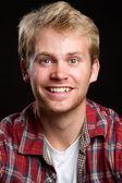 Smiling Blond Man — Stock Photo