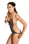 купальный костюм женщина — Стоковое фото