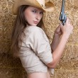 Country Gun Girl - Stock Photo