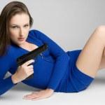 Gun Woman — Stock Photo #7621165