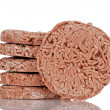 Closeup frozen hamburgers — Stock Photo