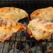 Cooking barbecue chicken breast — Stock Photo #7091501