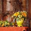 Fall flowers still life — Stock Photo