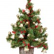 Decorated mini christmas tree — Stok Fotoğraf #7535648
