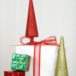 Stock Photo: Pile of christmas presents
