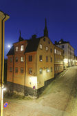 Moon over sodermalm, Stockholm — Stock Photo