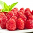 Raspberry dessert — Stock Photo