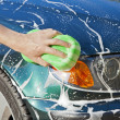 Washing car — Stock Photo