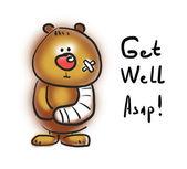 Sick bear — Stock Photo