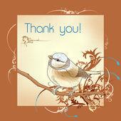 Thank you bird — Stock Photo