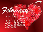 Valentine's Day calendar — Stock Vector