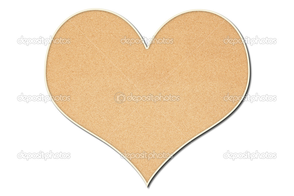 Heart shaped cork board stock photo justinkendra 6988843 for Heart shaped bulletin board
