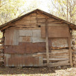 Back of Antique Cabin — Stock Photo