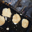 Browned Campfire Pancakes — Stock Photo