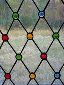 Church Stain glass window — 图库照片
