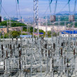 The Substation and  Power Transmission Lines. — Stock Photo
